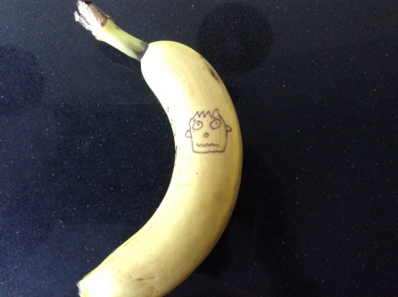 Funny Faces on your bananas!