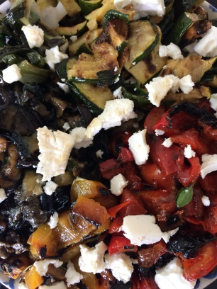 Griddled Veg and feta