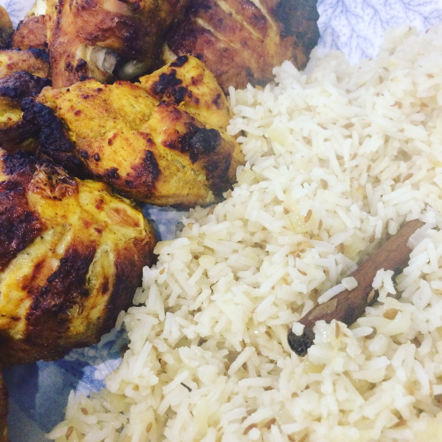 Tandoori Chicken & Pilau Rice